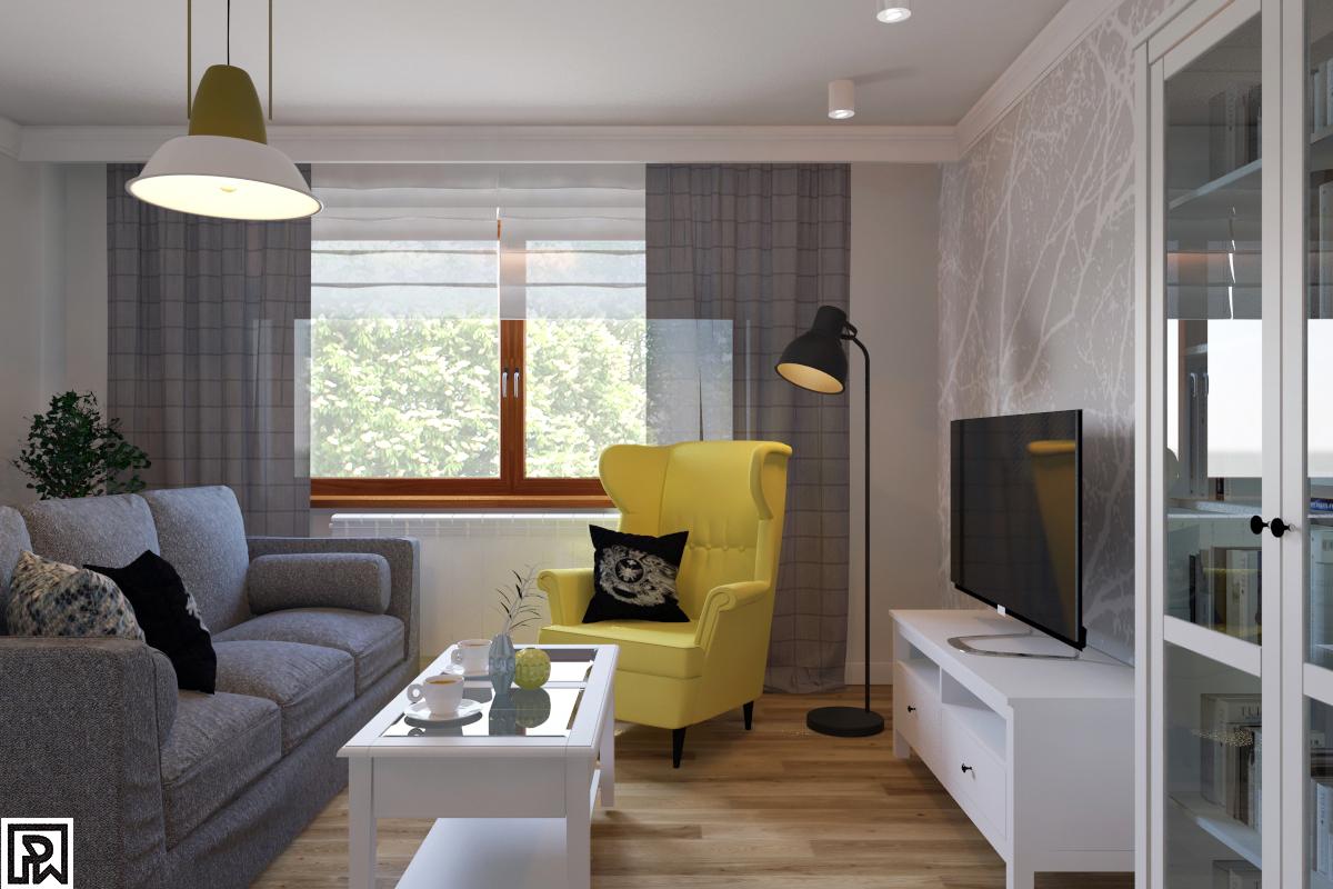 Fotel Uszak Zolty Ikea Metamorfozy Domów Aranżacje
